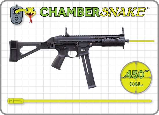 ChamberSnake for .45 cal. ACP : 12.5″Extension
