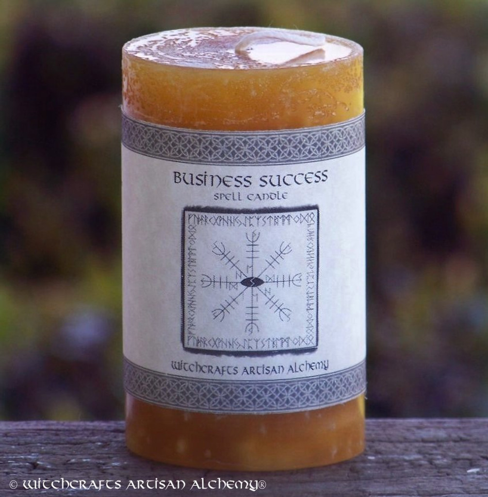 BUSINESS SUCCESS Signature Spell Candle by Witchcrafts Artisan Alchemy