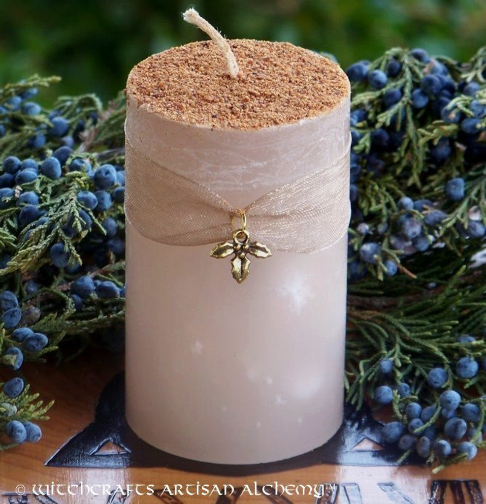 WINTER HOLIDAY EGGNOG Olde European Yuletide Pillar Candle