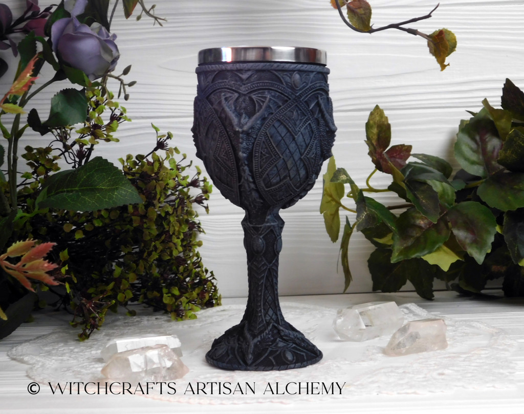 Dragon Cold Cast Resin & Stainless Steel Chalice