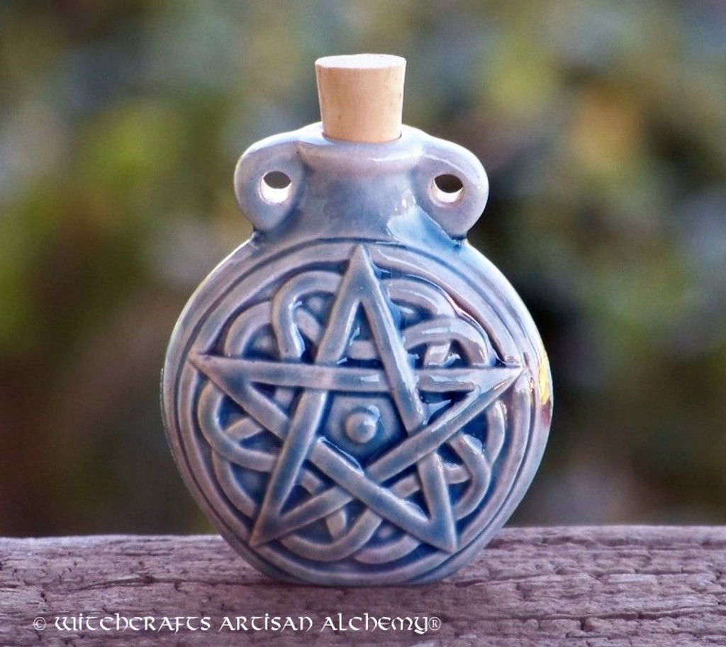 PENTACLE Ceramic Pendant Potion Bottle