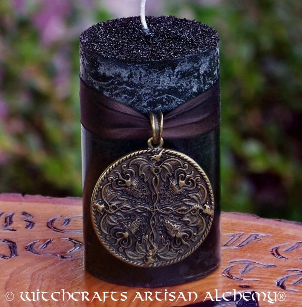SHIELDMAIDEN Warrior Witch Nordic Dragons Talisman Ritual Candle