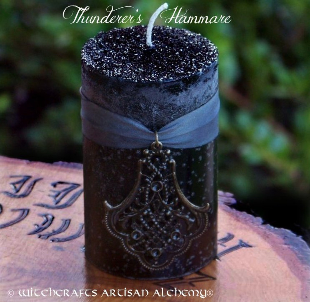 THUNDERER'S HAMMARE Thunder Goddess Warrior Witch Ritual Blót Candle