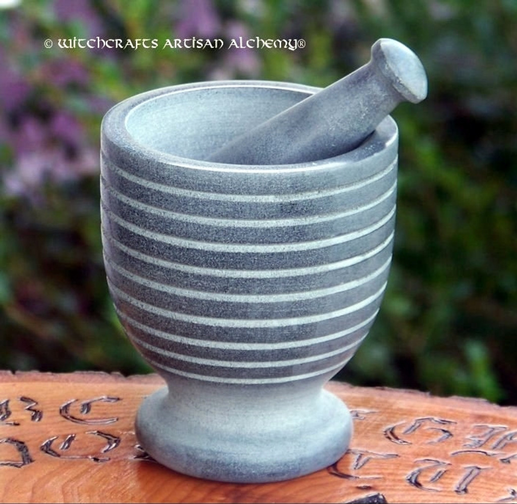 STONEHENGE Gray Stone Circles Mortar & Pestle