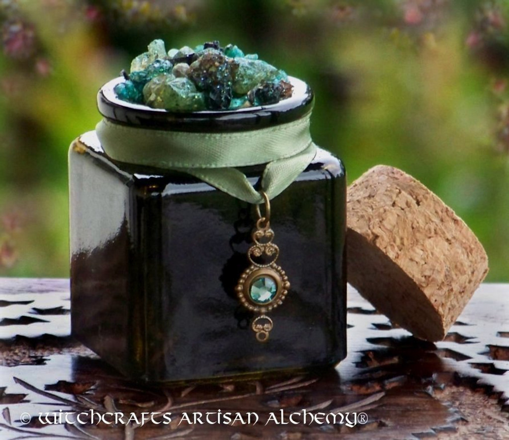 DARK FOREST Old European Earth Mother Goddess Incense with Swarovski Crystal Drop