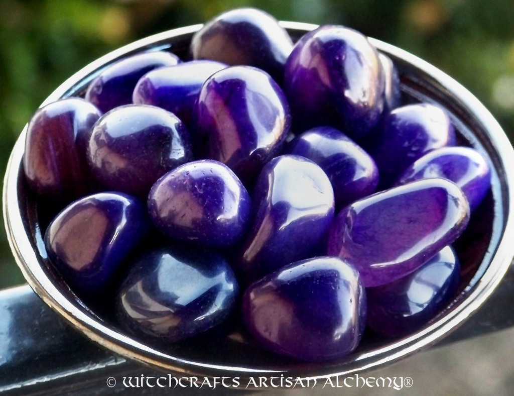 VIOLET FLAME AGATE Tumbled Purple Gemstone