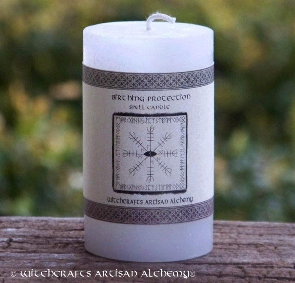 BIRTHING PROTECTION Signature Spell Candle by Witchcrafts Artisan Alchemy