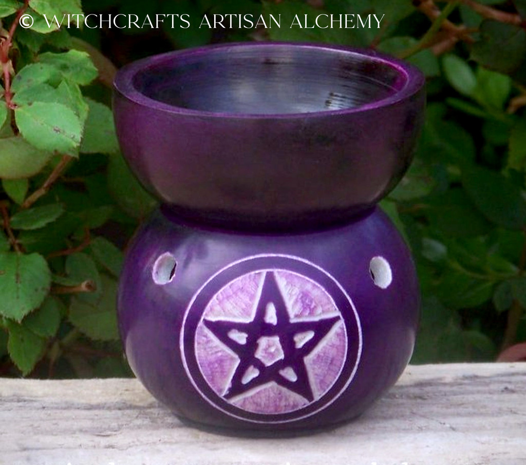 Purple Soapstone Pentacle Oil Diffuser