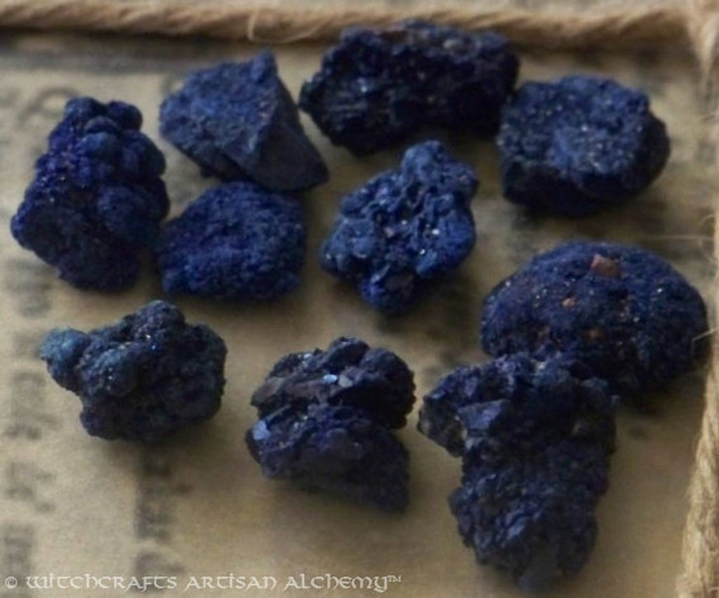 Blueberry AZURITE (Morocco) Natural Crystal Nuggets