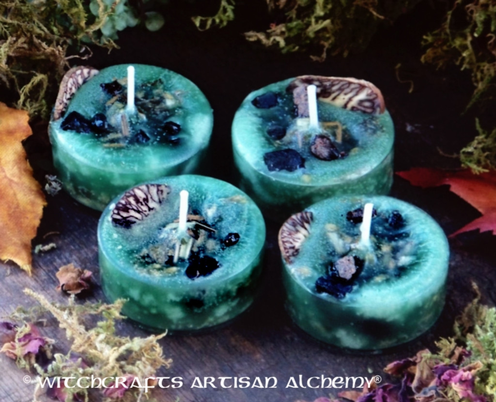 """FLYING WITCH'S BREW """"Hocus Pocus"""" Artisan Tealight Candles"""