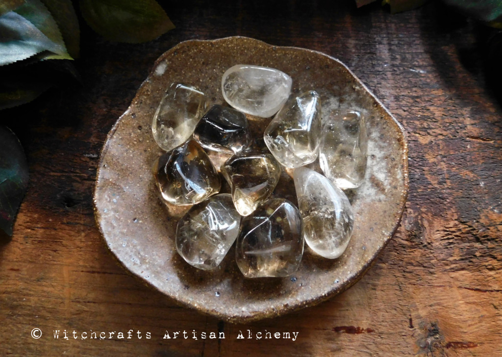 Citrine Natural Tumbled Crystal Gemstone