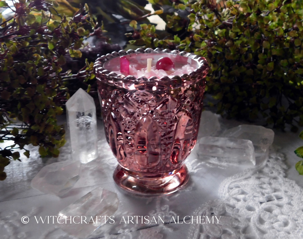 """SACRED LADY Coco Apricot Crème Luxury Wax """"Heirloom Heritage"""" Mercury Glass Container Candle"""