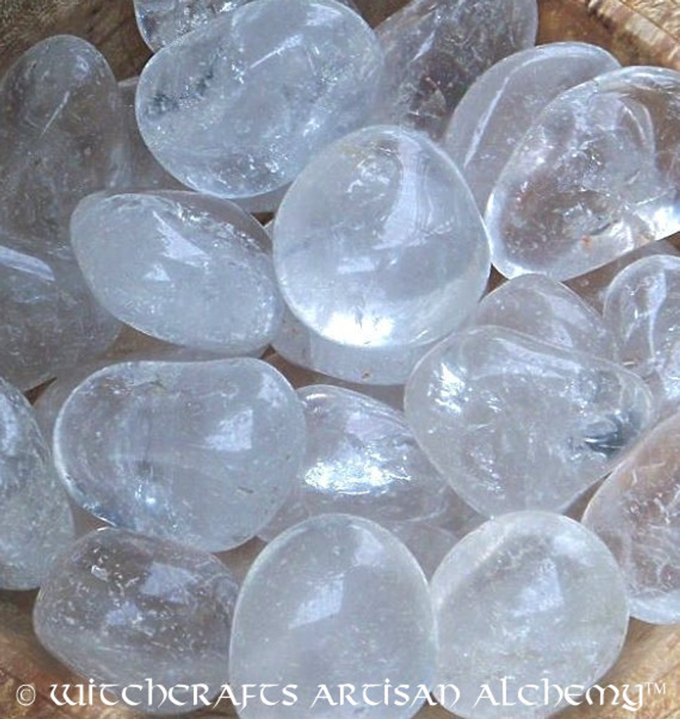 Jumbo CLEAR QUARTZ CRYSTAL Tumbled Gemstones