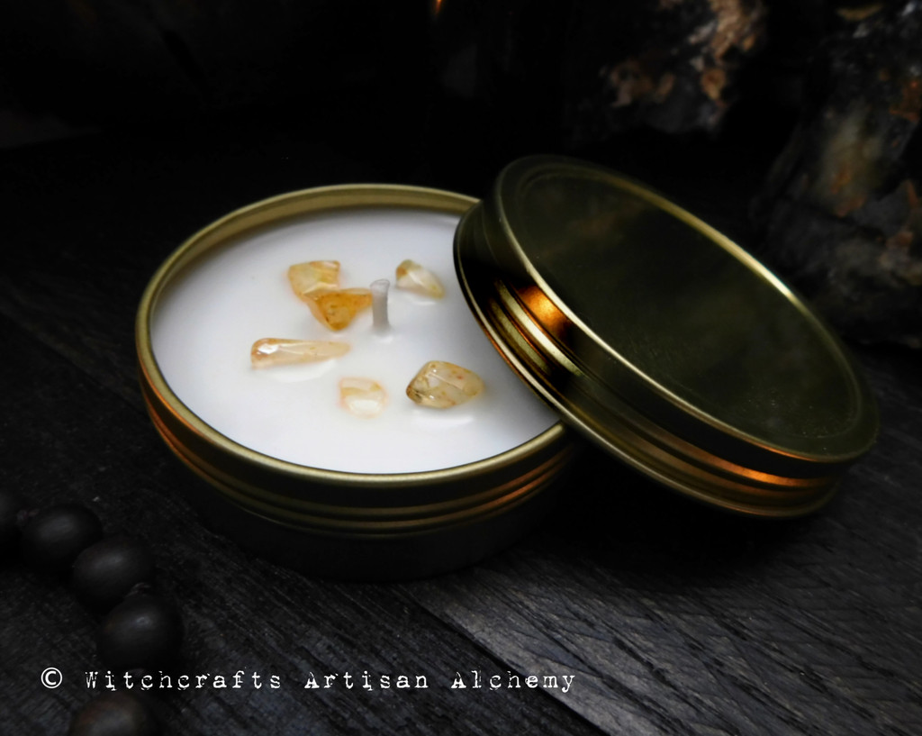 MERCHANT'S GOLD  Coco Apricot Crème Luxury Wax Golden Tin Container Candle