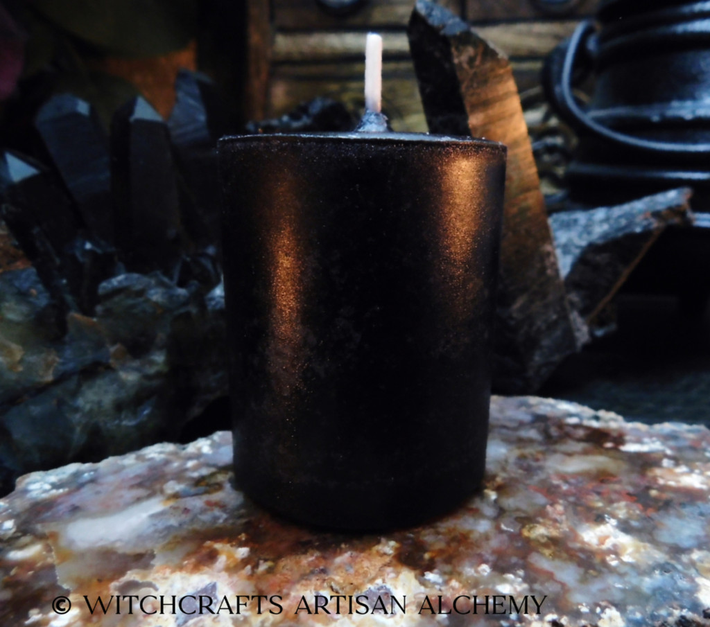Highly Scented Black Pillar Votive Candle - Your Choice of Scent Blend