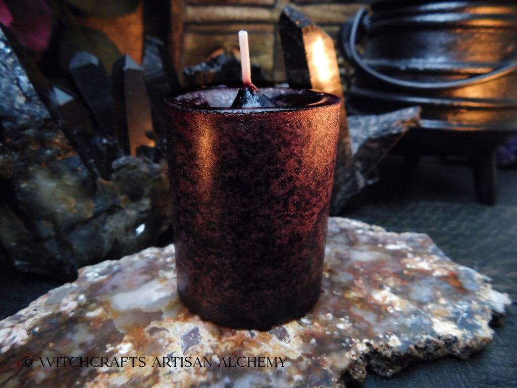 Highly Scented Dark Cranberry Red Pillar Votive Candle - Your Choice of Scent Blend
