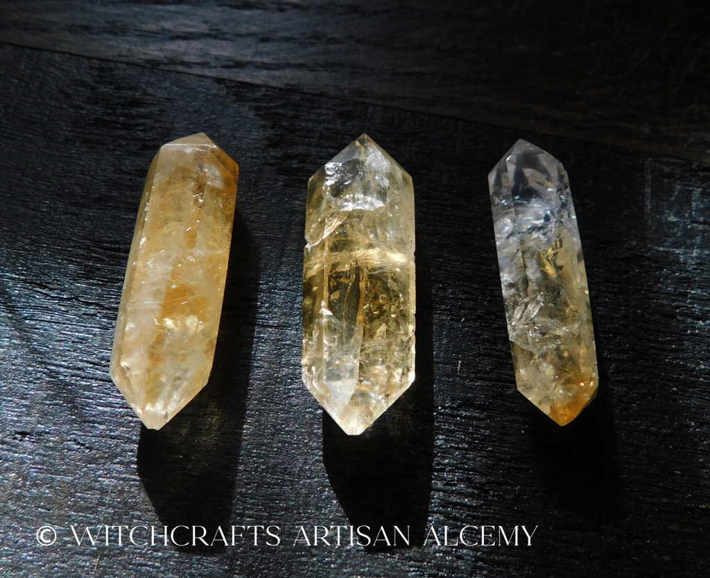 Double Terminated Citrine Point