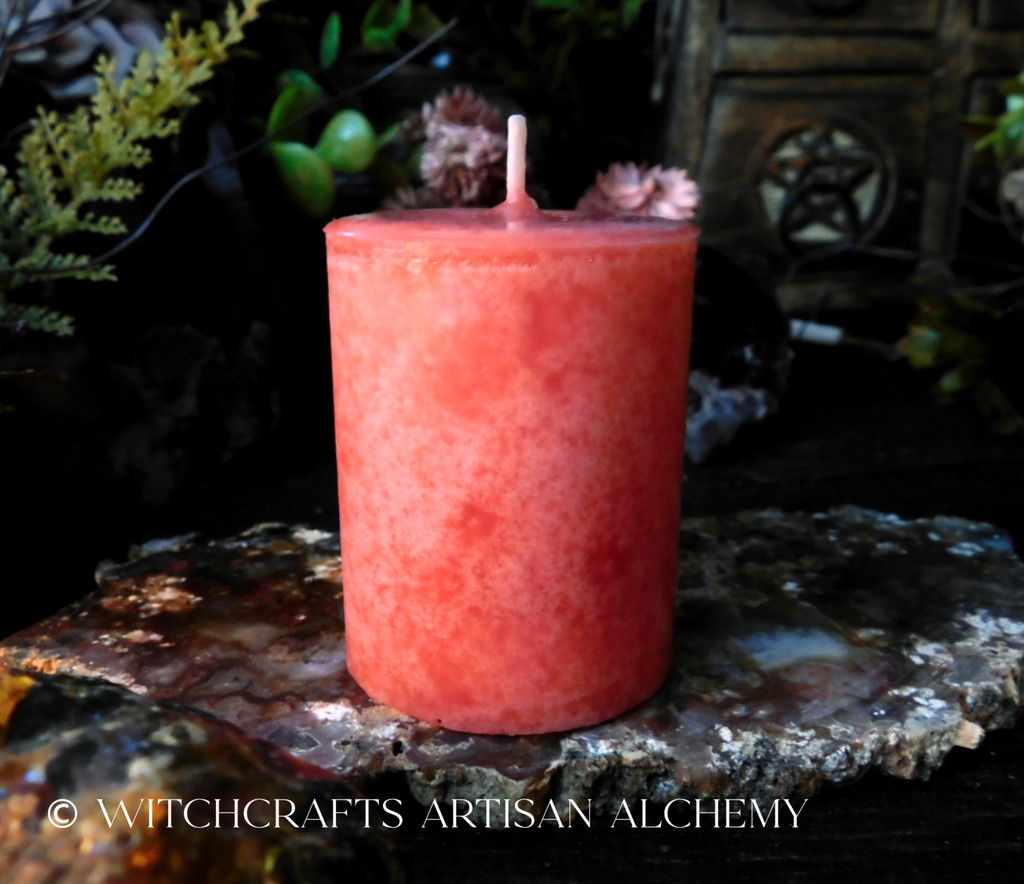 Highly Scented Rose Red Pink Pillar Votive Candle - Your Choice of Scent Blend