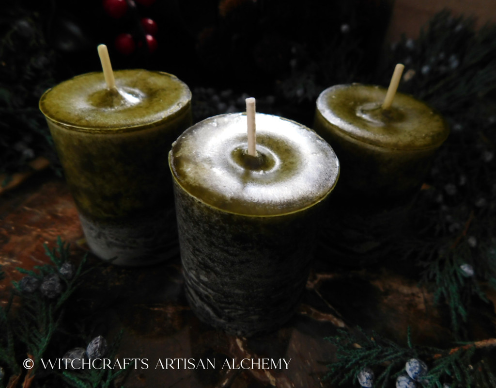 BAYBERRY Old European Bayberry Green Pillar Votive Candles