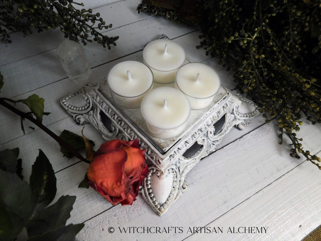"WHITE SAGE (Salvia Apiana) Essential Oil ""Simply Elegant"" Coco Apricot Crème Wax Artisan Tealight Candles"