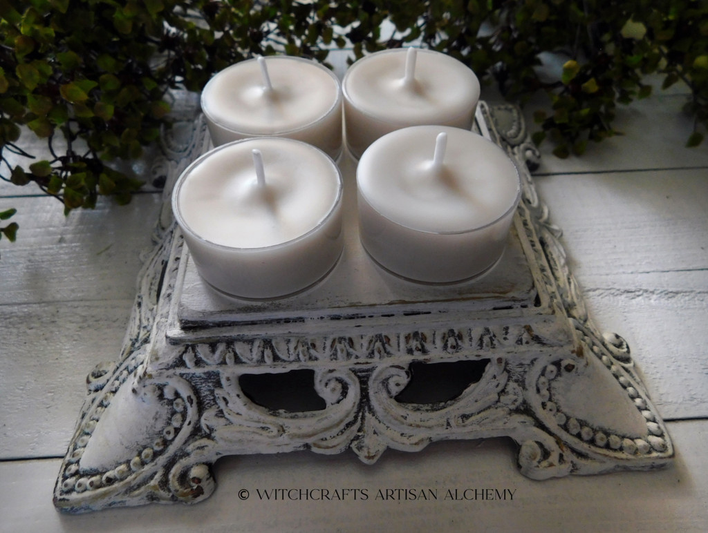 """EARTH MOTHER GODDESS """"Simply Elegant"""" Coco Apricot Crème Wax Artisan Tealight Candles"""