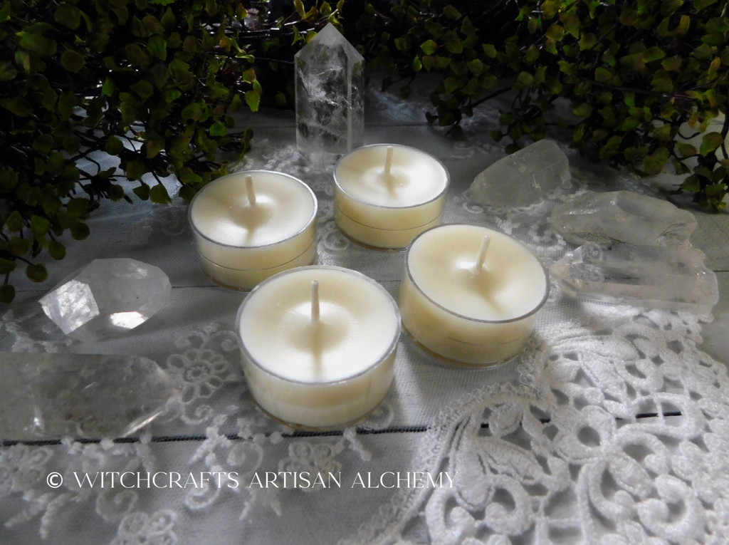 """CHOOSE YOUR SCENT Dye Free """"Simply Elegant"""" Soy Wax Artisan Tealight Candles"""