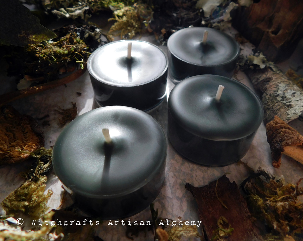 """DARK FOREST """"Simply Elegant"""" Coco Apricot Crème Wax Deep Mossy Green Artisan Tealight Candles"""