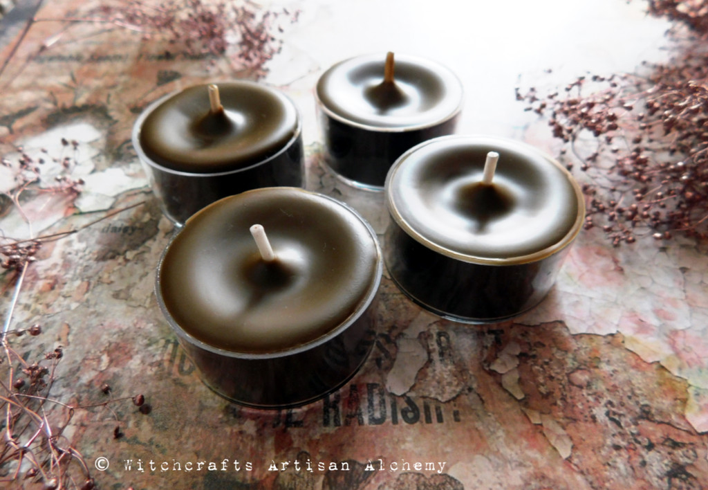 SMOLDERING OUD Soy Paraffin Wax Blend Rustic Brown Artisan Tealight Candles
