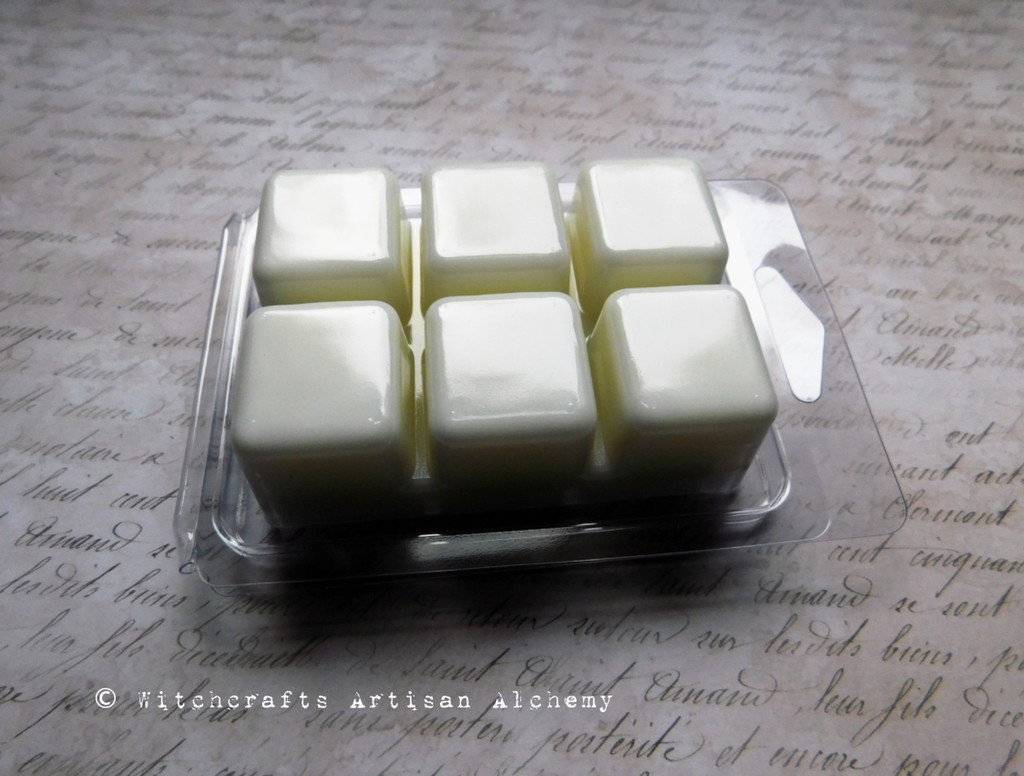 CHAMPACA OUD Quiet Mediation Highly Scented White Artisan Soy Paraffin Wax Blend Clamshell Melts
