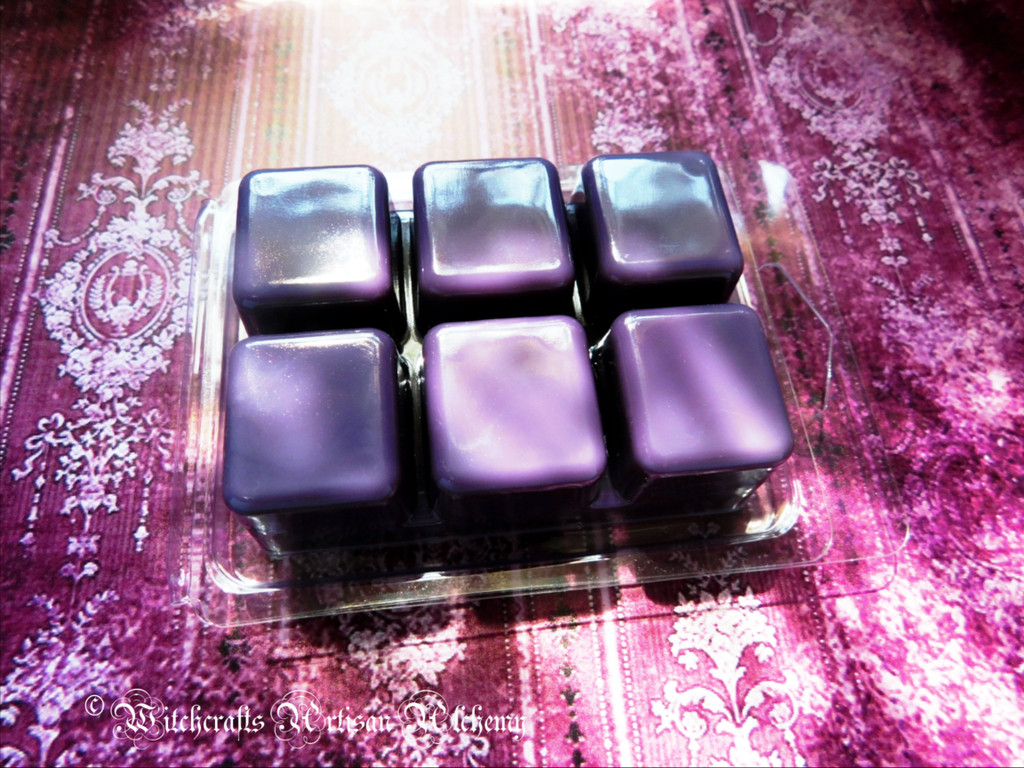 BLACKBERRY CLOVE Highly Scented Dark Purple Artisan Soy Paraffin Wax Blend Clamshell Melts