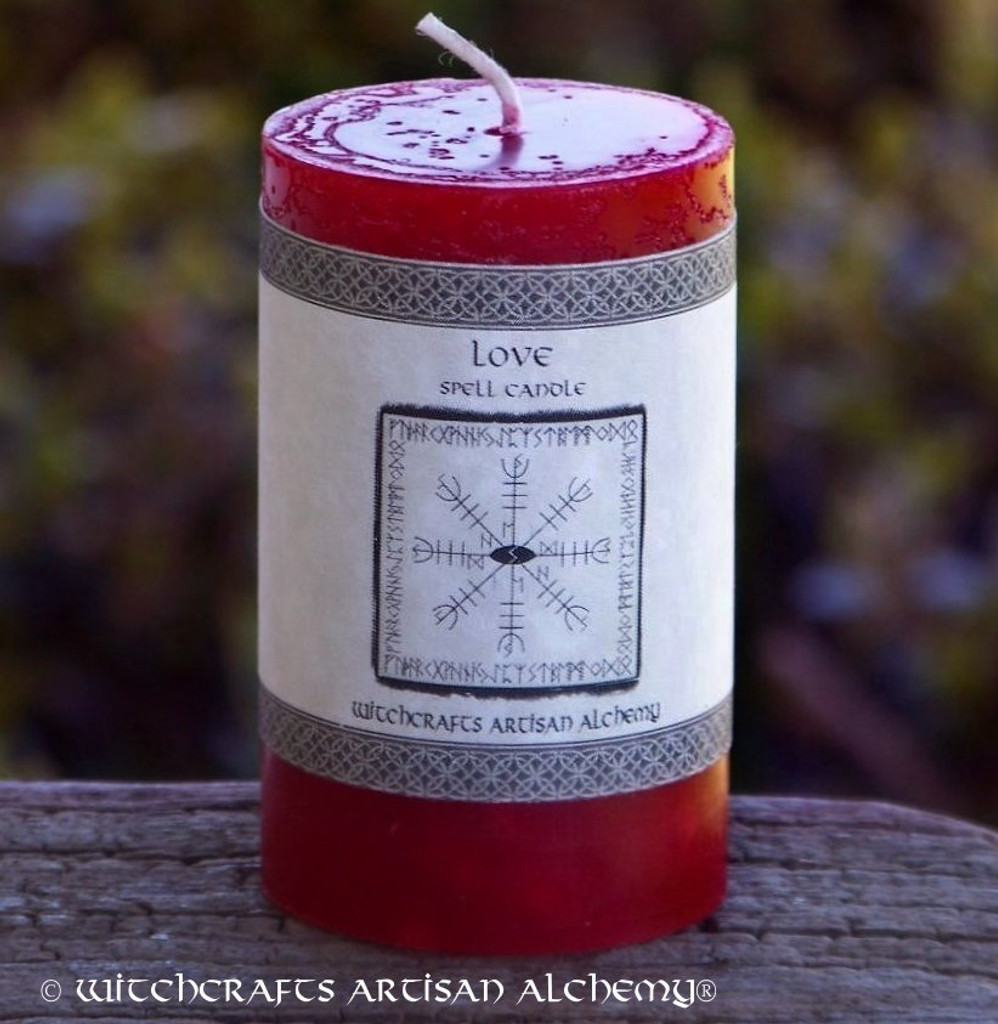 LOVE SPELL Signature Spell Candle by Witchcrafts Artisan Alchemy