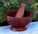 SACRED CIRCLES Hand Carved Wooden Mortar & Pestle