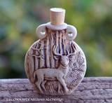 STAG SPIRIT Fired Clay Pendant Potion Bottle