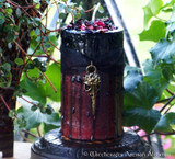 "MORRIGAN Raven Warrior Goddess Charmed ""Fusion Magic"" Pillar Candle"