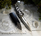 SCOTTISH Blue Jewel Celtic Knotwork Athame