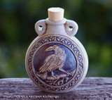 RAVEN SPIRIT Fired Clay Pendant Potion Bottle