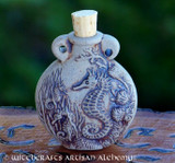 SEAHORSE SPIRIT Fired Clay Pendant Potion Bottle