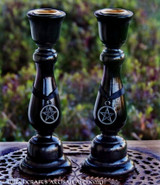 BLACK SABBATH Witch's Pentacle Taper Candle Holders, Set of Two