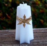 NORTHSTAR Golden Lodestar Snowflake Star Candle
