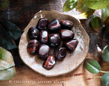 RED TIGER EYE Lucky Pocket Stone of Power Tumbled Gemstone