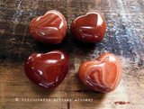 Carnelian Crystal Gemstone Puffy Heart