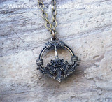 HEDEBY Antiqued Brass Amulet Pendant Necklace