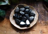 JET Witch's Amber Fossil Wood Tumbled Gemstone