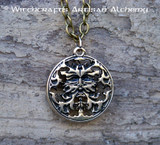 GREENMAN 24K Gold Plated Amulet Pendant Necklace