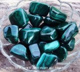 GREEN MALACHITE Tumbled Gemstone