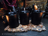 BLACK CAULDRON BREW Black Pillar Votive Candles
