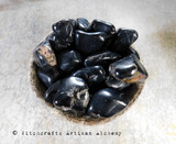 BLACK ONYX Tumbled Black Crystal Gemstone