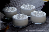 CRYSTAL VISIONS Coco Apricot Crème Wax Artisan Tealight Candles