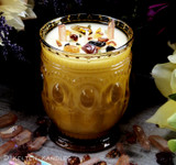 "ANCIENT MEMORY Coco Apricot Crème Luxury Wax ""Heirloom Heritage"" Amber Gold Glass Container Candle"