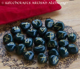 Bloodstone Elder Futhark Rune Set
